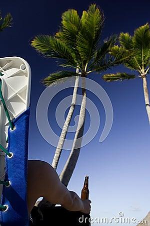 Na máscara da palmeira