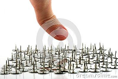 Na rysunku spinaczy halsów palców kciuk.