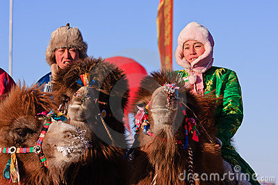 Naadam camel racers Editorial Photography