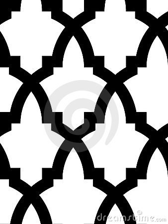 Naadloos Arabisch mozaïek