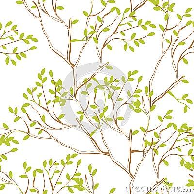Naadloos behang met boomtakken