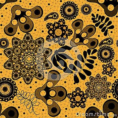 Naadloos bloemenkantpatroon
