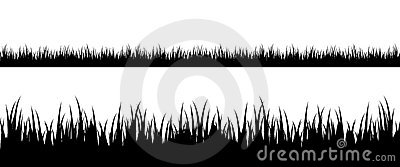 Naadloos grassilhouet