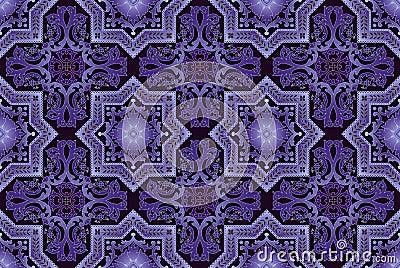 Naadloos oosters gedetailleerd patroon