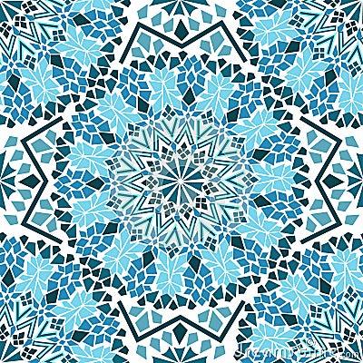 Naadloos patroon van marokkaans moza ek stock afbeelding afbeelding 30834901 - Oostelijke mozaiek ...