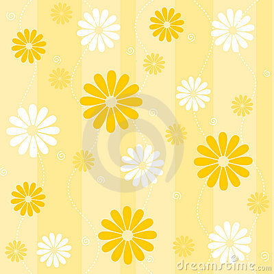 Naadloze bloemenachtergrond