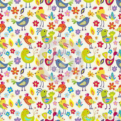 Naadloze grappige Beeldverhaalvogels