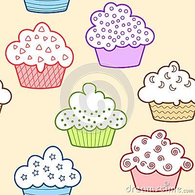 Naadloze lichte cupcakes