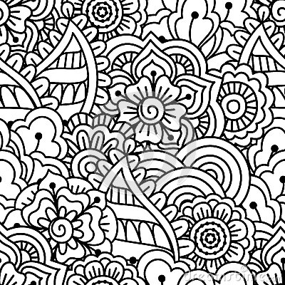 Naadloze zwart witte achtergrond vector illustratie afbeelding 70038123 - Deco slaapkamer ontwerp volwassen ...