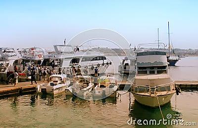 Naama Bay, Egypt Editorial Photography