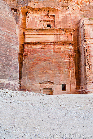 Nabatean tomb in the Siq, Petra
