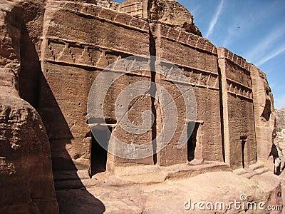 Nabatean tombs at Petra. Jordan