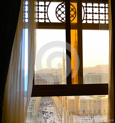 Free Nabawi Mosque From Out Of The Window Royalty Free Stock Image - 25358256