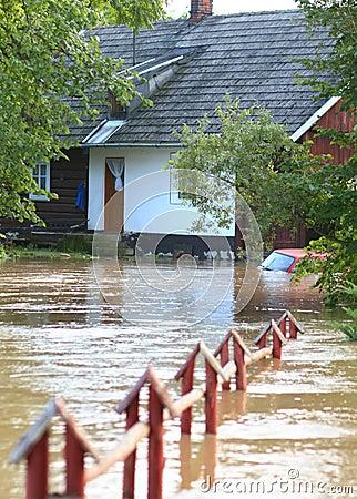 Nach Hause überschwemmt