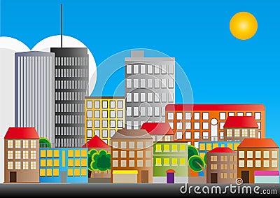 Nachbarschaft der Stadt
