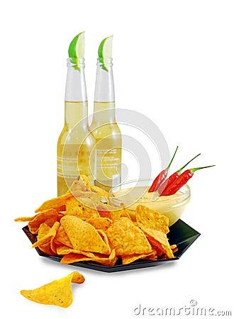 Free Nachos-beer Royalty Free Stock Image - 10161436