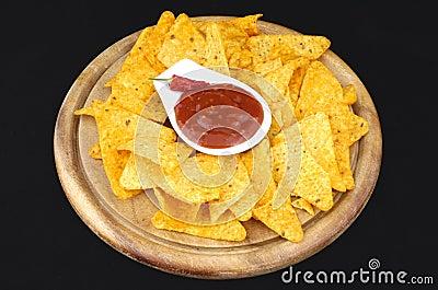 Nachos and dip