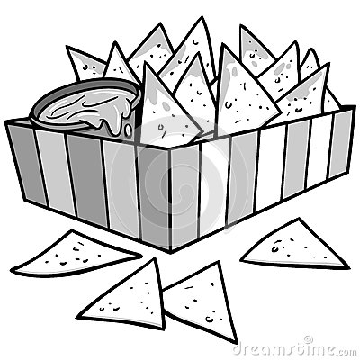 Pictures Of Tortilla Chips Clipart Black And White