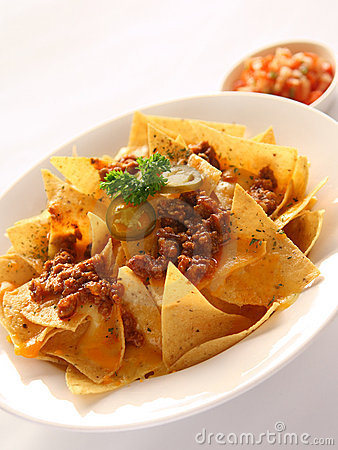 Free Nachos With Beef & Cheese Stock Images - 3456894