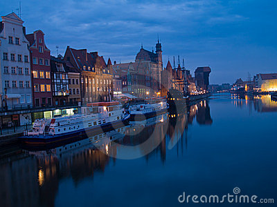 Nacht in altem Gdansk, Polen