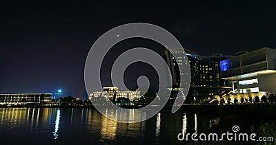 Nachtsch?ne Zeitspanne China, Shenzhen stock footage