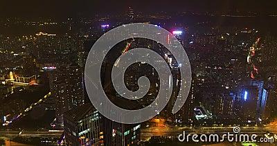 Nachtzeitversehen China, Shenzhen stock video