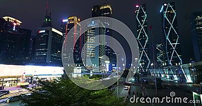 Nachtzeitversehen China, Shenzhen stock footage