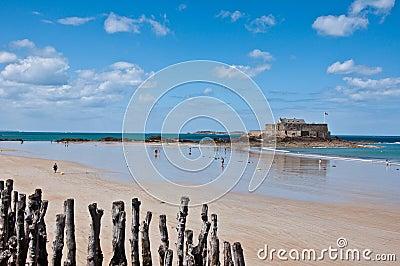 Nacional do forte em Saint Malo