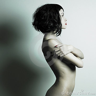 Nackte elegante Frau
