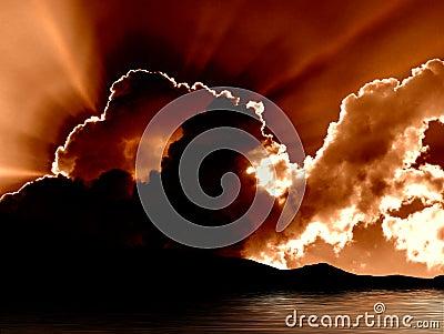 Nad jeziorem tahoe wschodu słońca