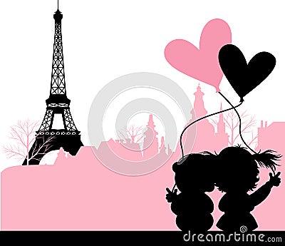 Nad miasta pary całowanie