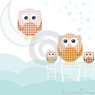 Nad sowy niebem karciana obłoczna rodzina