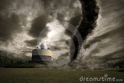 Nad stacyjnym tornadem wielki meteo