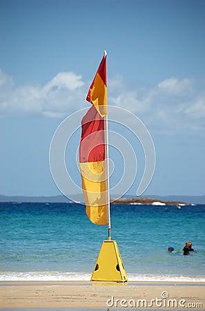 Nadada entre as bandeiras