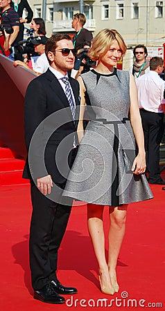 Nadezhda Mikhalkova no festival de cinema de Moscovo Imagem Editorial