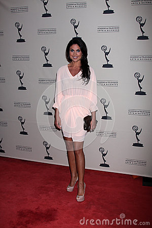 Nadia Bjorlin arrives at the ATAS Daytime Emmy Awards Nominees Reception Editorial Photo
