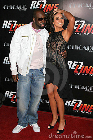 Nadia Bjorlin,  Wyclef Jean Editorial Stock Photo