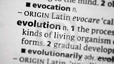 Nadruk op evolutie stock video