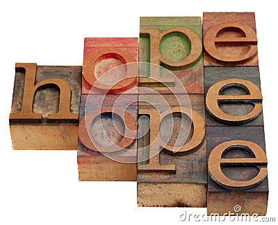 Nadzieja abstrakcjonistyczny słowo