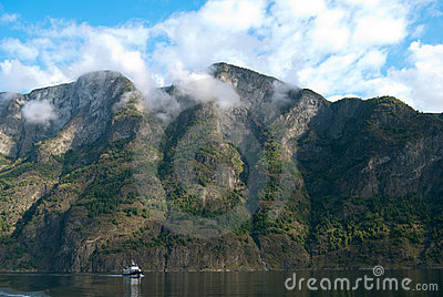 Naeroyfjord in Norway, UNESCO World Heritage Site