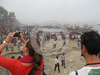 Nag Nathaiya Krishna Ceremony, Ganges River, Varanasi, India