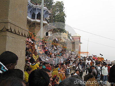 Nag Nathaiya Krishna Ceremony, Ganges River, Varanasi, India