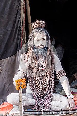 Free Naga Baba At Kumbha Mela Royalty Free Stock Images - 48851029