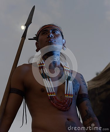Free Naga Indigenous Tattooed Man Stock Photo - 80596130