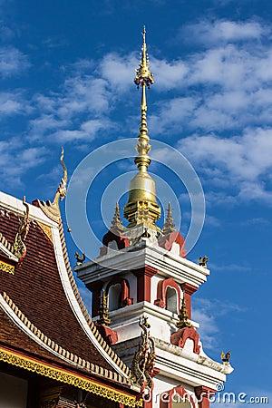 Free Naga Lanna Gable Apex Chedi Royalty Free Stock Images - 31616129