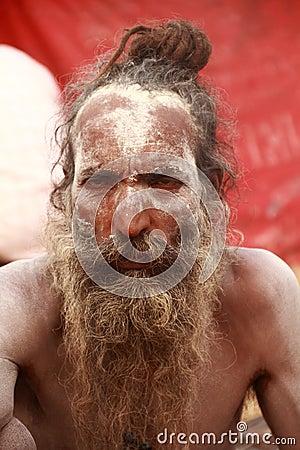 NAGA SADHU,HOLY MEN OF INDIA Editorial Image