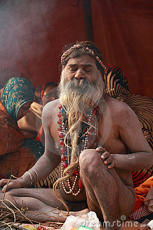 NAGA SADHU,HOLY MEN OF INDIA Editorial Photography