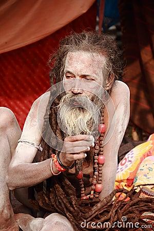 NAGA SADHU,HOLY MEN OF INDIA Editorial Photography