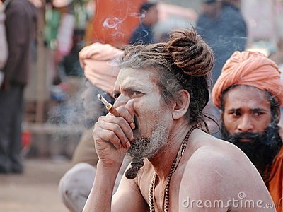 NAGA SADHU,HOLY MEN IN INDIA Editorial Stock Photo