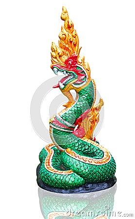 Naga Thai statue